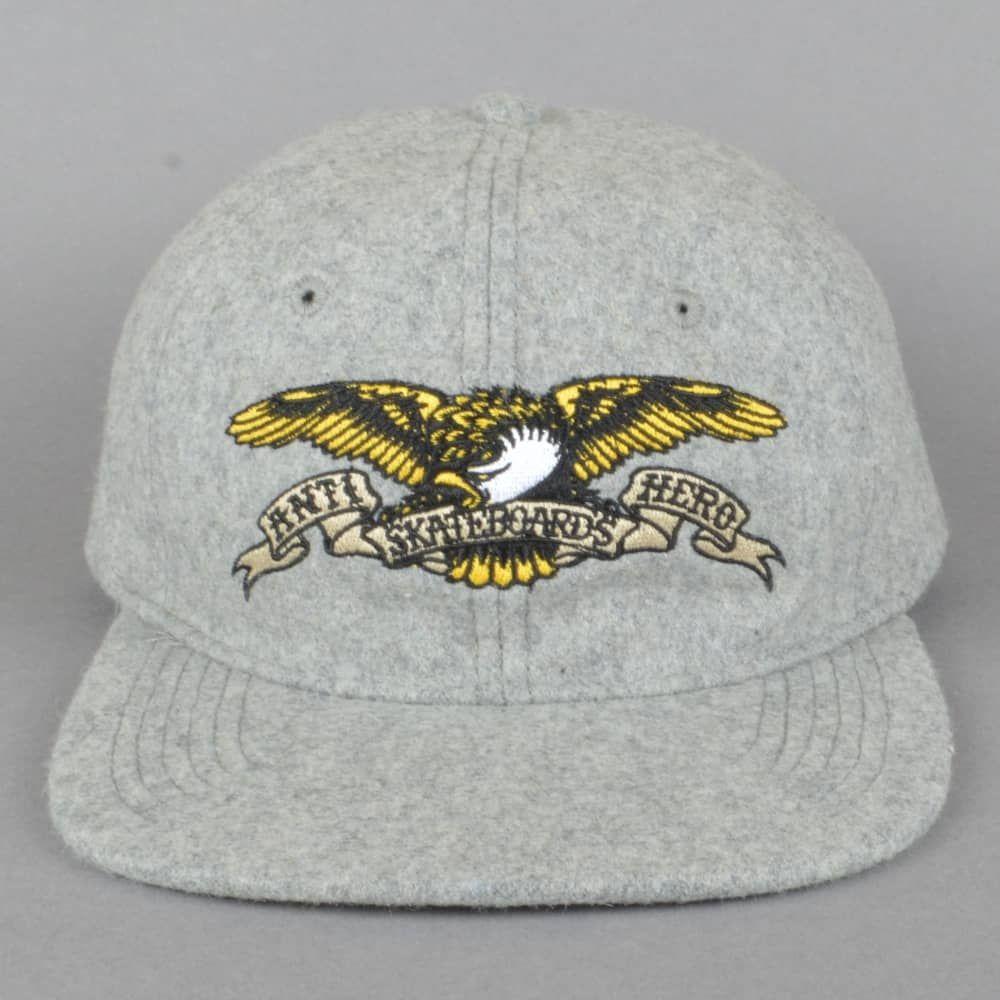 add6532f640c6 Eagle Embroidered Snapback Cap - Heather Grey
