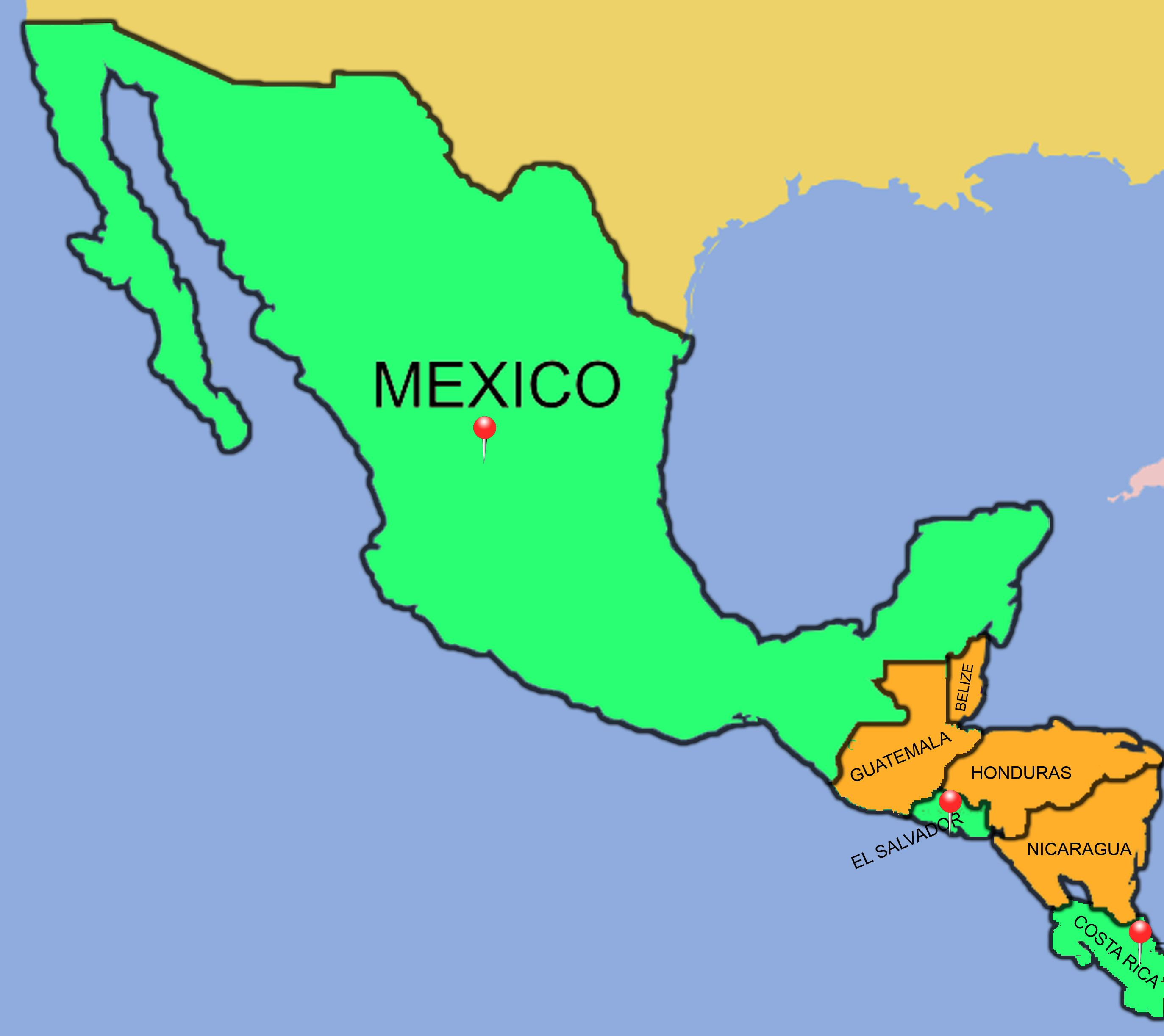 Free Blank Map Of North And South America Latin America Blank Map - Outline map of usa and mexico