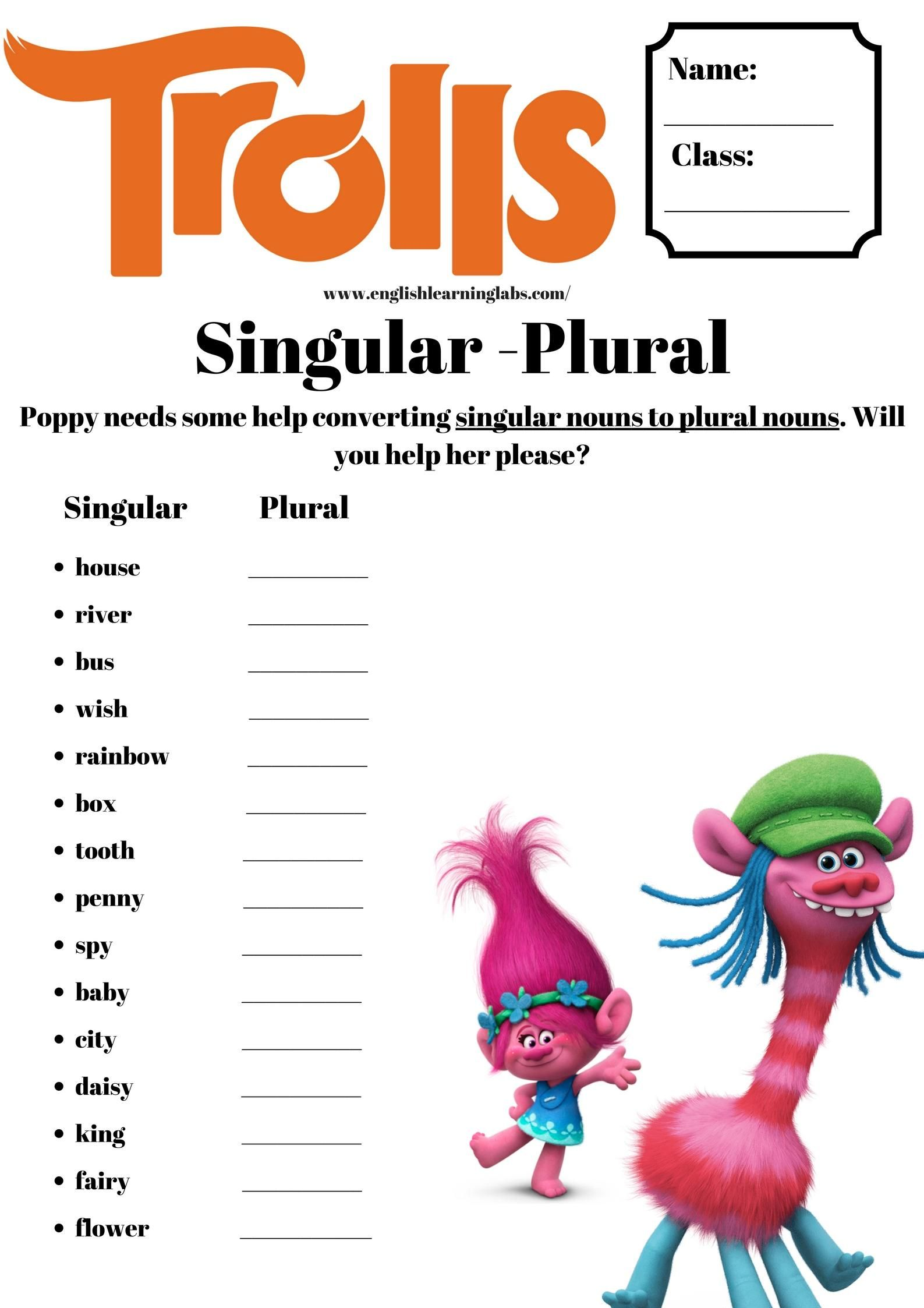 Free English Grammar Worksheets For Primary School Esl Ell