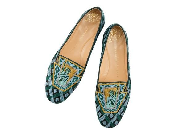 Charlotte Olympia Patterned slippers