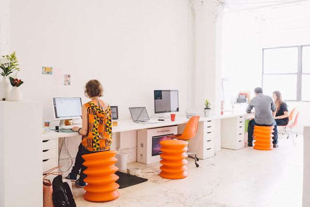 Love the seats interiors co working space in brooklyn art and