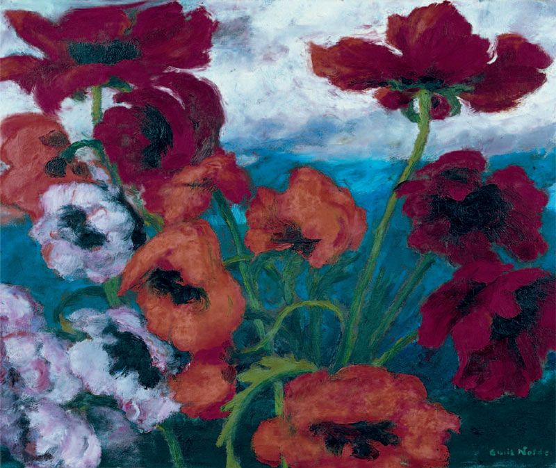 Large Poppies (Red, Red, Red), 1942, oil on canvas, 73.5 x 89.5 cm, Nolde Stiftung Seebüll
