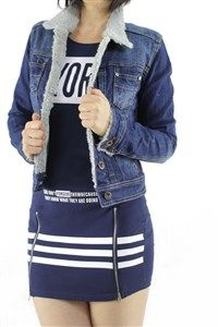 CHAQUETA DENIM CON BORREGUITO PATUSPIES