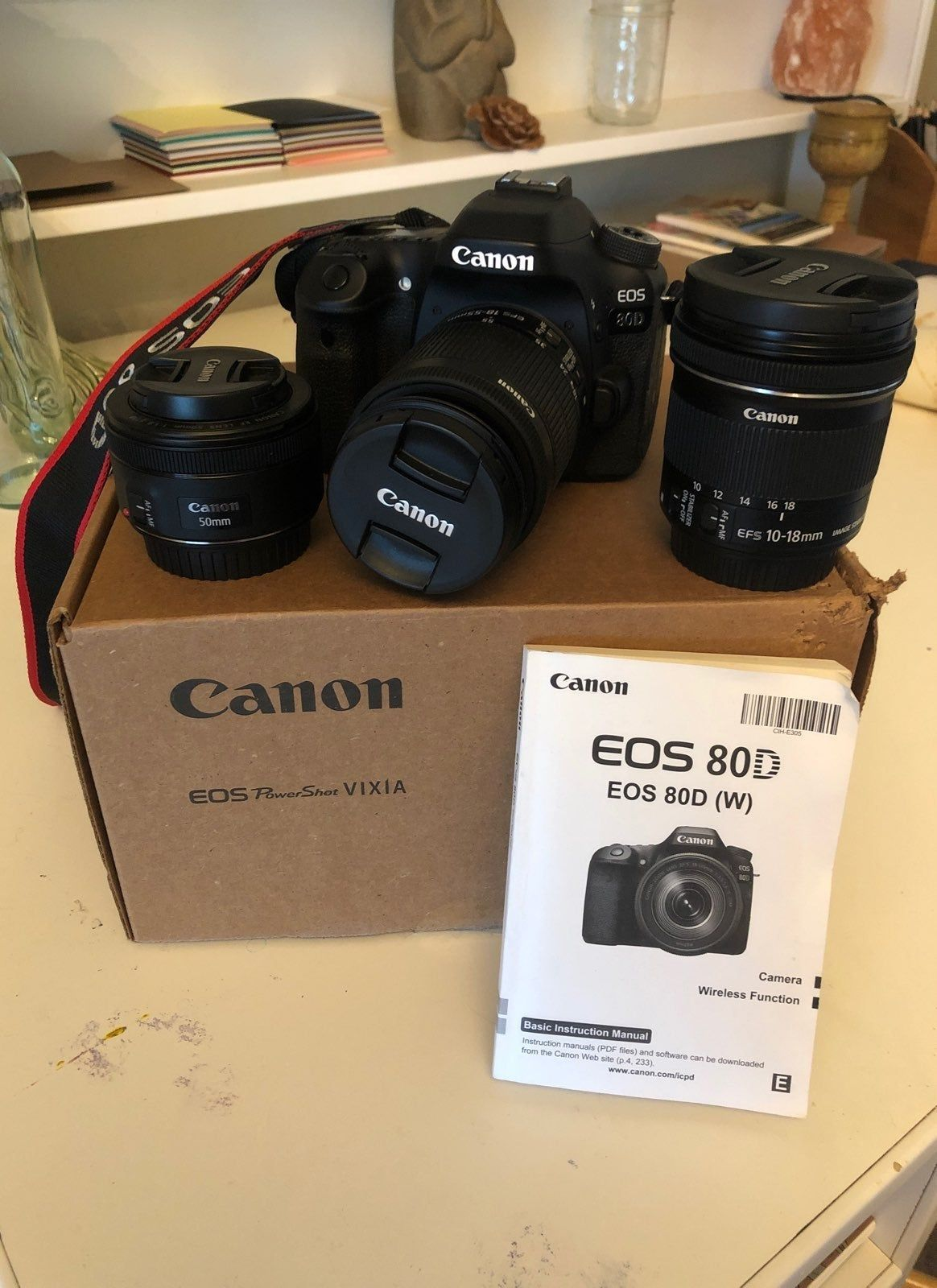 Mint Condition Lightly Used Little To None Wear And Tear On Body Canon 80d 18 55mm 10 18 M Digital Camera Photography Canon Camera Photography Canon Camera