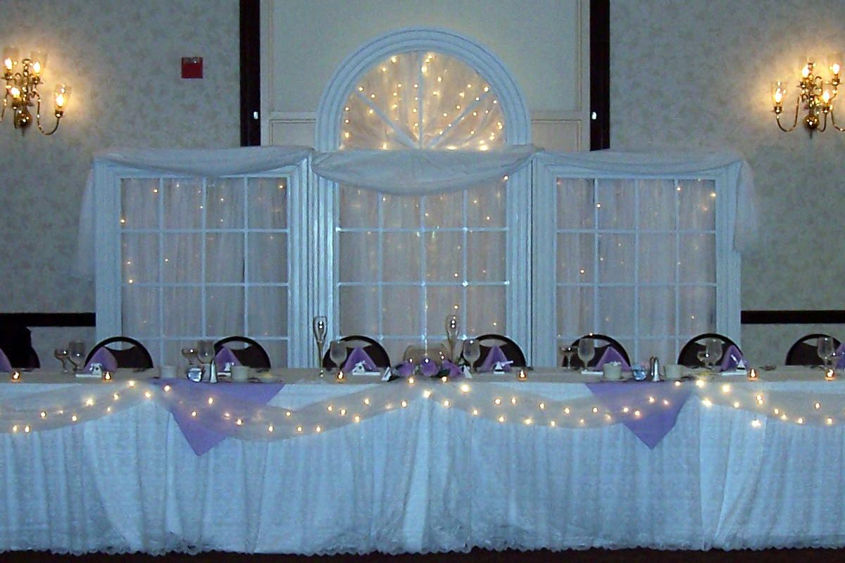 Wedding Reception Decoration Idea Photo String Lights Used In This