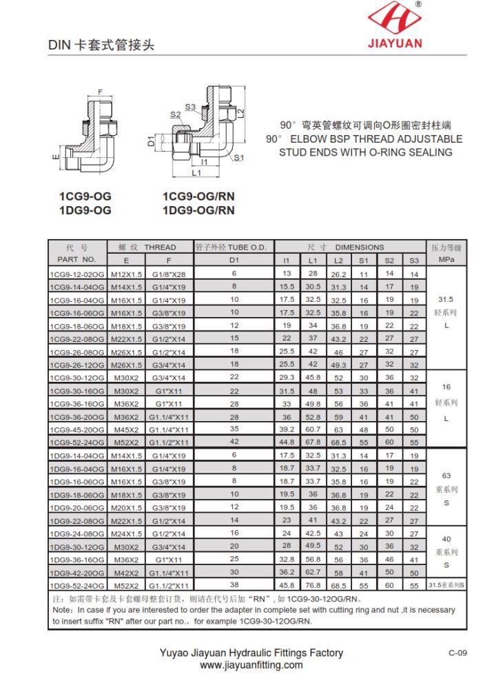China custom elbow metric bsp adjustable fittings