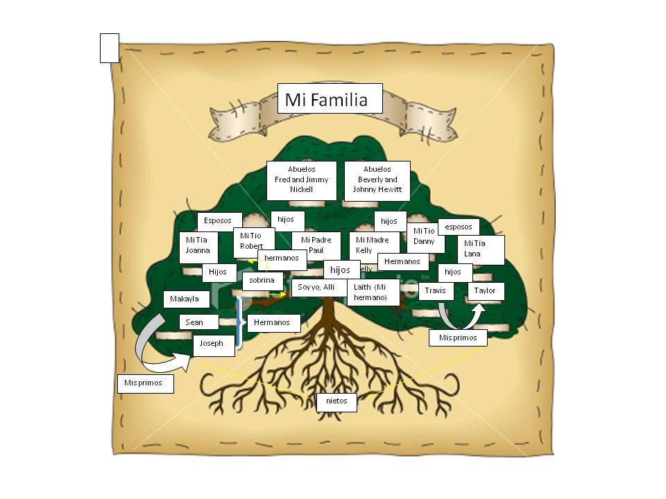 Spanish Editable Family Tree With Siblings  Isabel Nickell