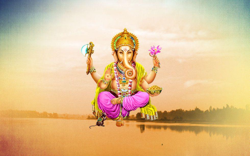 Image result for lord ganesha with river kaveri