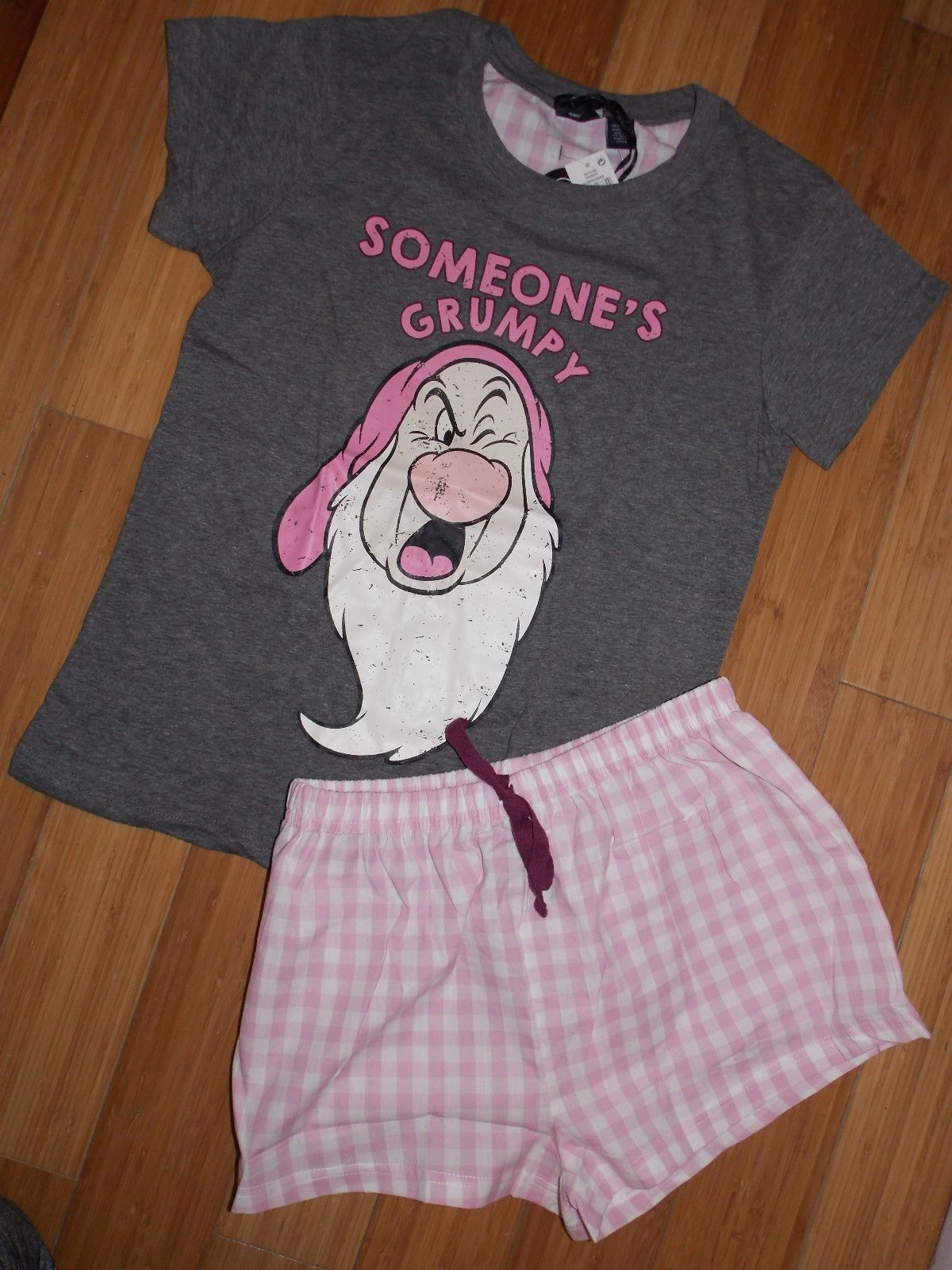 193b365689 Primark Ladies DISNEY GRUMPY DWARF Pyjamas T Shirt Shorts ...