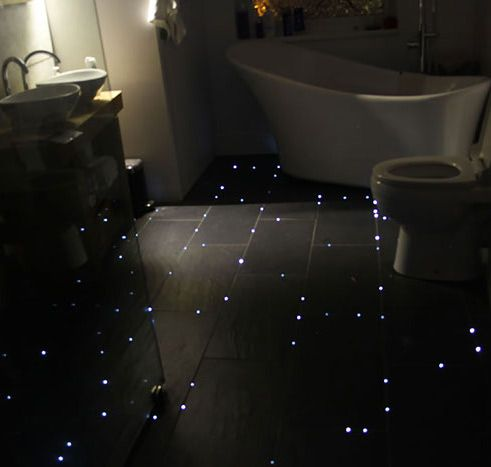 You Could Either Use Night Lights Or Turn Your Entire Floor Into A Starry Night Sky Stunning Interior Design Bathroom Flooring House Design