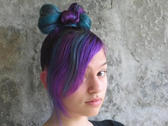 Splat Lusty Lavender And Aqua Rush In A Bow 3 Hair Looks Hair