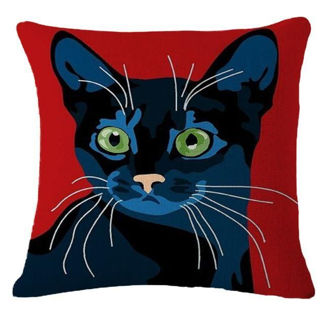 Housses de coussins chat pour chambre canap housse d - Housse coussin 60x60 pour canape ...