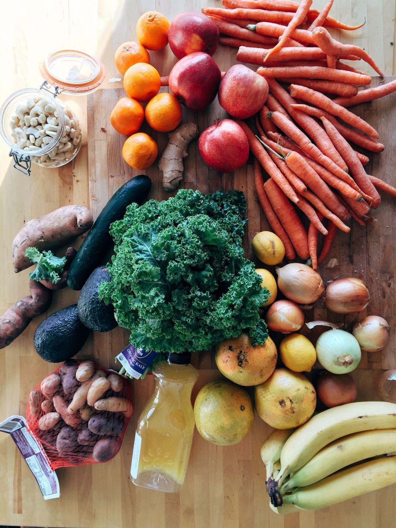 grocery haul: carrot, onions, lemons, bananas, grapefruits, orange juice, potatoes, avocados, cucumb...