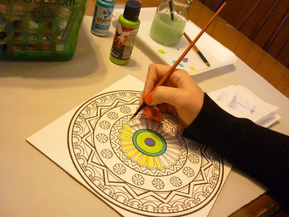 Mandalas en madera para pintar 20x20cm mandalas gods - Pinturas para pintar madera ...