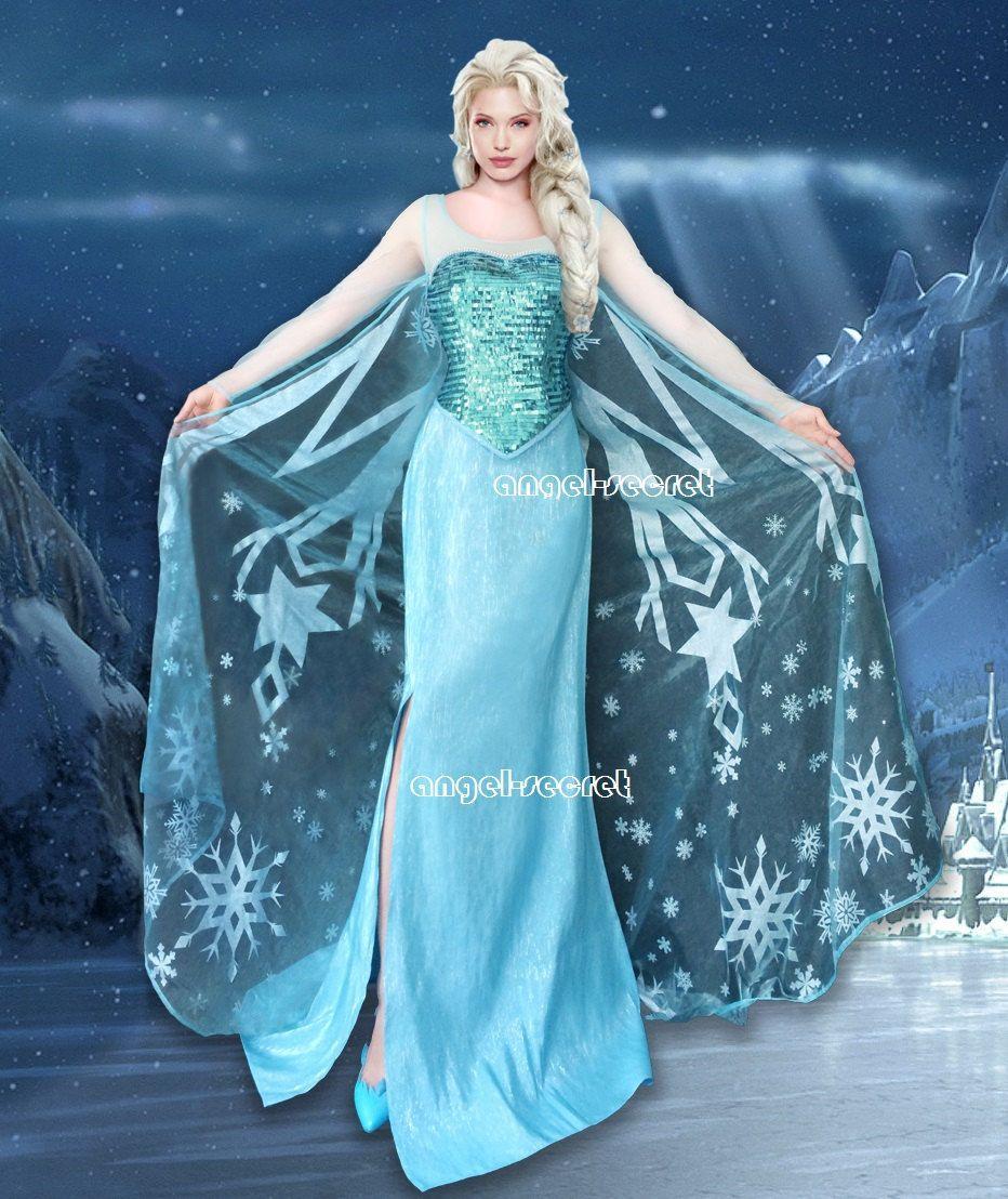 J800 [Adult] Movies Frozen Snow Queen Elsa Cosplay Costume Deluxe Dress tailor made adult  sc 1 st  Pinterest & J800 [Adult] Movies Frozen Snow Queen Elsa Cosplay Costume Deluxe ...