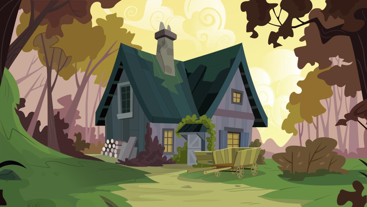 Картинки домики для пони