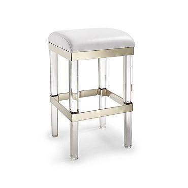 Fulham Acrylic Bar Stool Furniture Backless Bar Stools