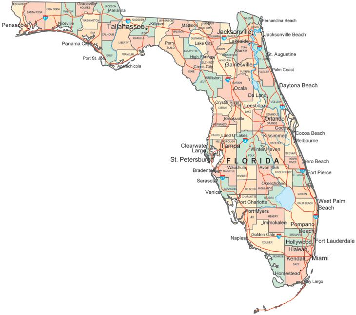 Florida City County Map.Map Of Florida Florida County Map Map Of Florida Cities
