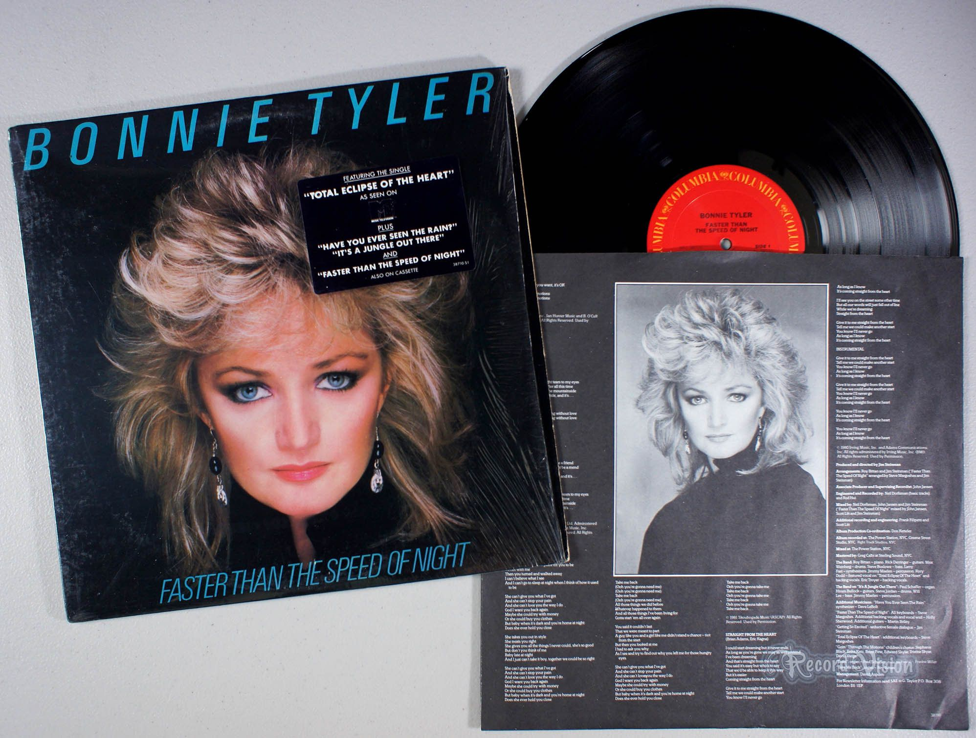 Faster Than The Speed Of Night Was Bonnie Tyler S Most Successful Album It Includes Her Grammy Nominated No 1 In 2020 Vinyl Record Album Bonnie Tyler Cover Songs