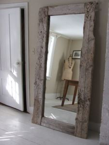 Glue Driftwood To Full Length Mirror