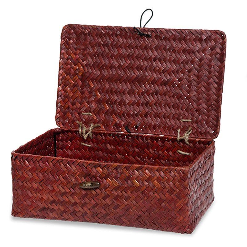 Alexa keepsake storage box with lid medium red 10in