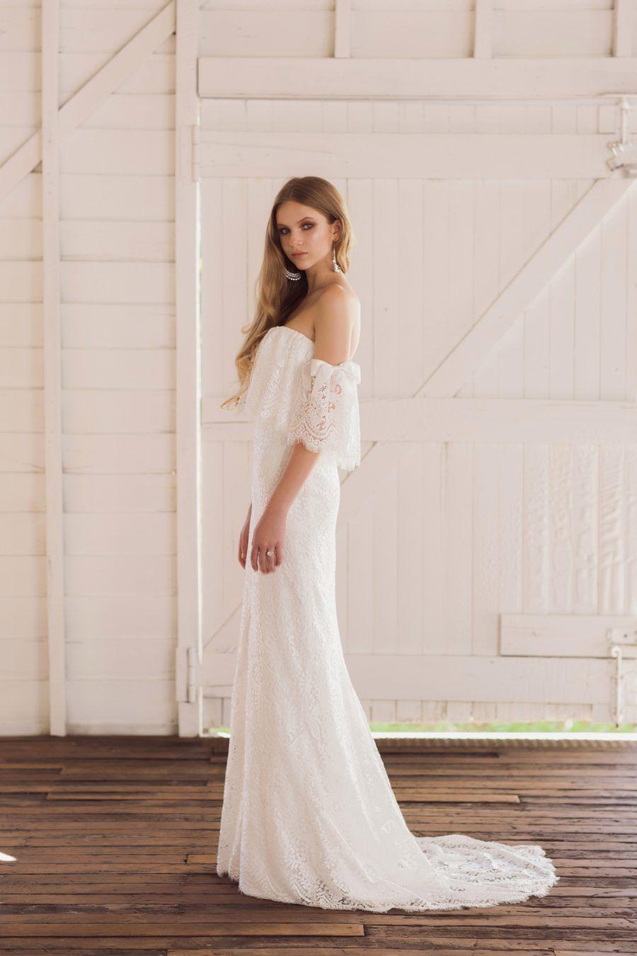 off the shoulder lace wedding dress - Jennifer Gifford 2017   my ...