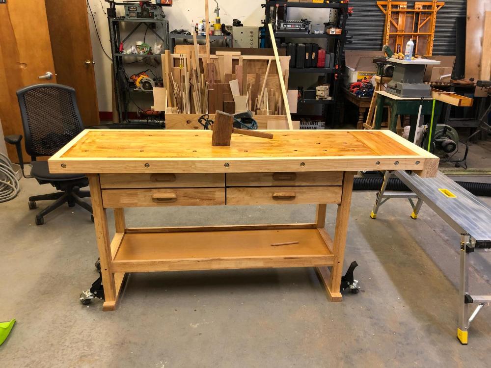 60 In 4 Drawer Hardwood Workbench Hardwood Workbench Wood Blocks