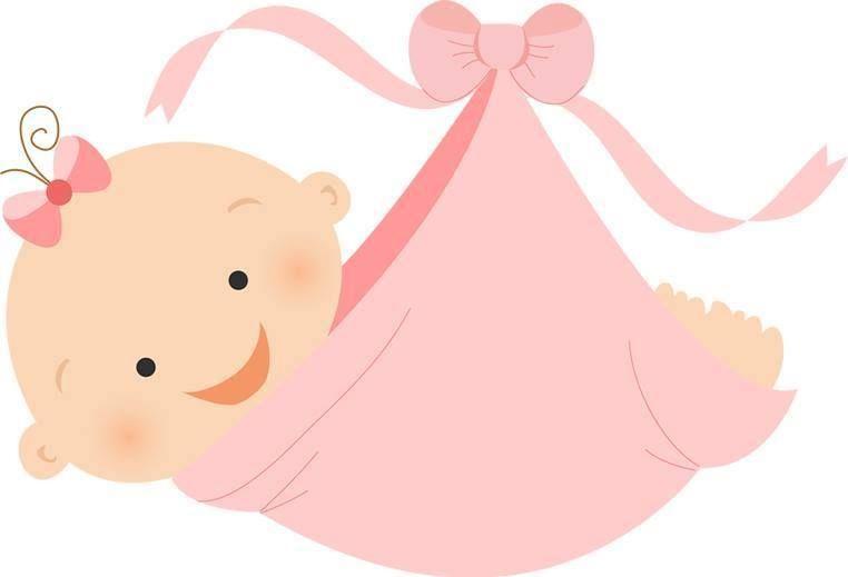 12 Dibujos de bebes ninas para baby shower