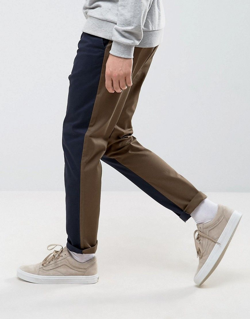 Get this Asos's baggy trousers now! Click for more details. Worldwide shipping. ASOS Tapered Cut and Sew Trousers in Navy - Navy: Trousers by ASOS, Stretch twill, Cut and sew design, Concealed fly, Side pockets and two back pockets, Tapered leg, Regular fit - true to size, Machine wash, 98% Cotton, 2% Elastane, Our model wears a W 32 Regular and is 188cm/6'2 tall. ASOS menswear shuts down the new season with the latest trends and the coolest products, designed in London and sold across the…