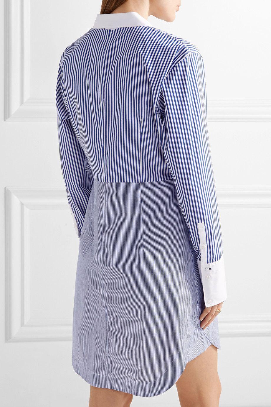 ca211b8ca10e63 Elizabeth and James | Jay striped cotton-poplin mini shirt dress |  NET-A-PORTER.COM