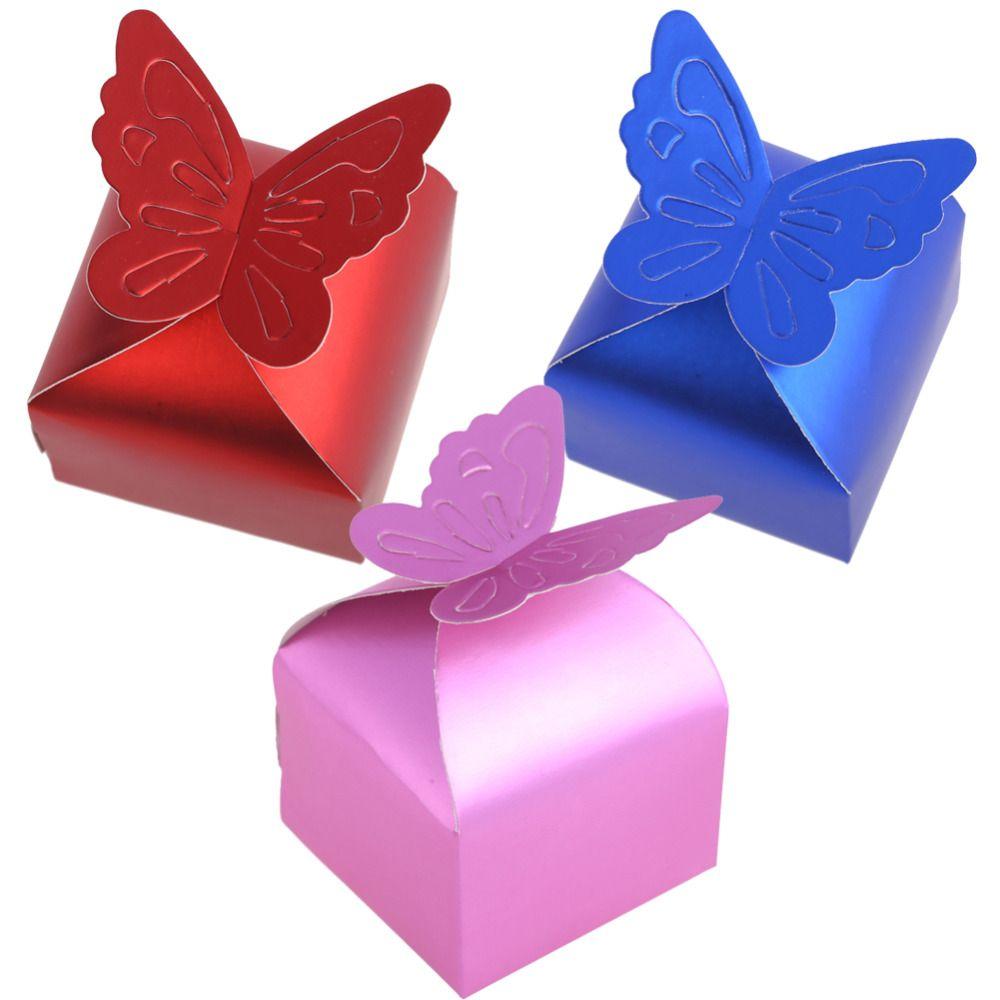 50pcs/set Romantic Wedding Favors Decor Butterfly DIY Candy Cookie ...