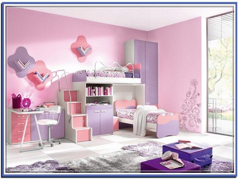girls loft bed with slide - Google Search | kids room | Pinterest