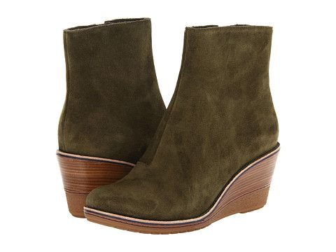 Womens Boots Cole Haan Rayna Bootie WP Chestnut Suede