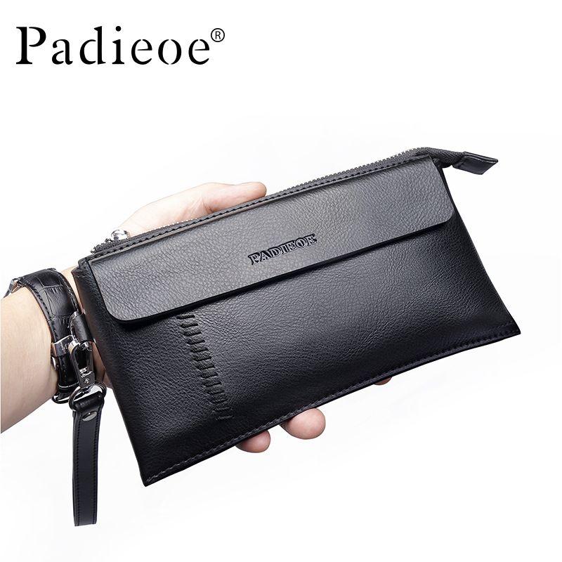 3c3be7a202 men in Padieoe Hot Men Wallets Brand Clutch Bags Genuine Leather Cowhide  Men s Business Casual Purses And Handbags Mens Wallet   Shop 4 Xmas n 2018.