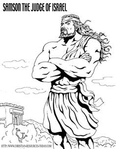 Week 12 Samson Bible Coloring Bible Coloring Pages Sunday School Coloring Pages