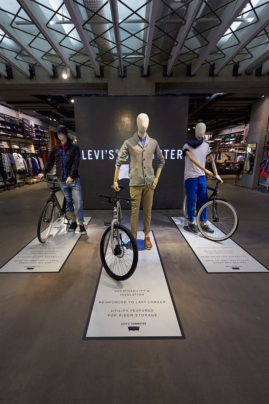 """LEVI'S COMMUTER,London, UK, """"Made to take you places every day,all day"""", photo by hmvm.co.uk, pinned by Ton van der Veer ................. I just like that script is laid out before them.... Adventure more"""