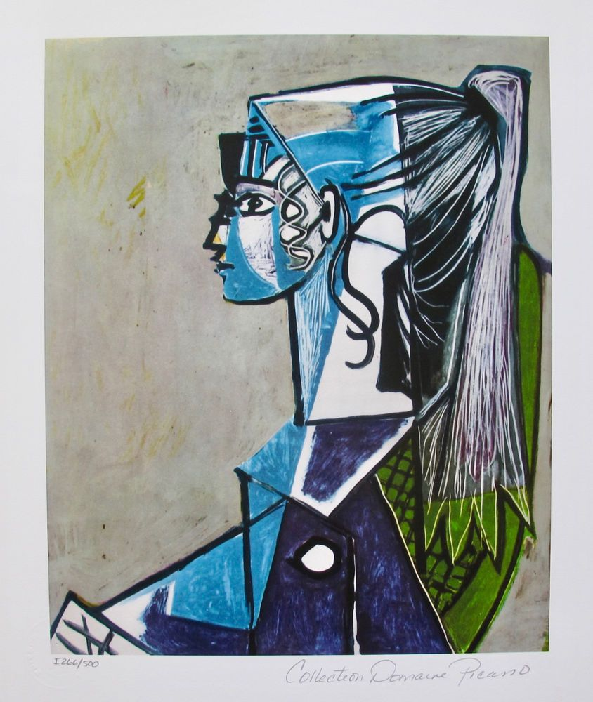 """unframed Pablo Picasso Signed /& Hand-Numbered Ltd Ed /""""The Couple/"""" Litho Print"""