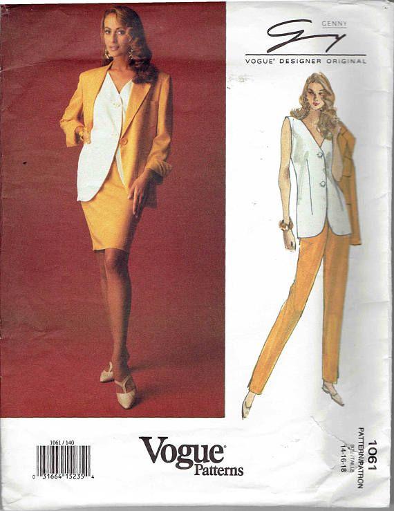 90s Vogue Designer Original Genny Pattern 1061. Jacket | Patterns I ...