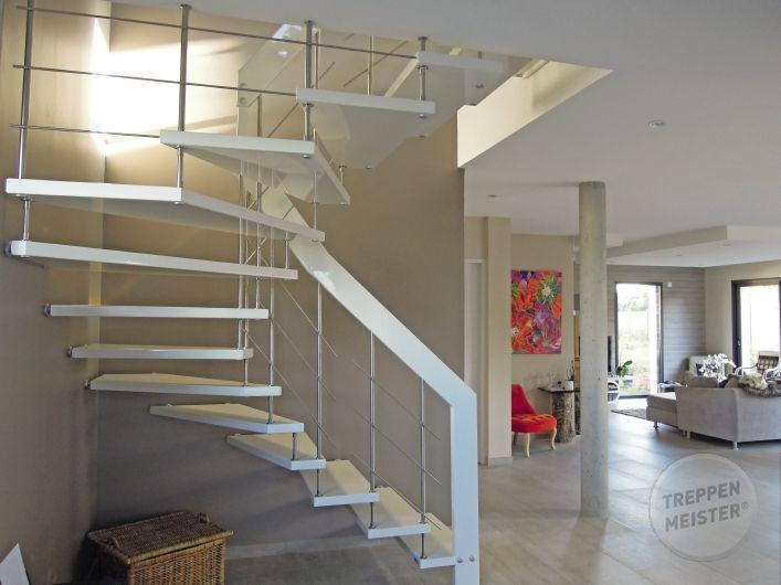 Escalier Intérieur Design En Bois Massif #Madeinfrance   Escaliers