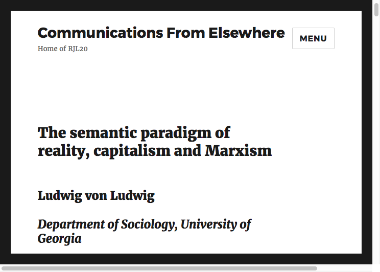 Communications from elsewhere the postmodern essay generator