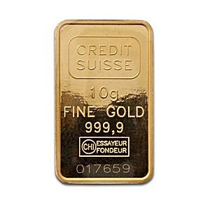 Credit Suisse Gold Bar Circulated In Good Condition 10 G 10 Gram Gold Bar Manufactured By Valcambi Each Gold Bar Con Gold Bar Credit Suisse Gold Bullion