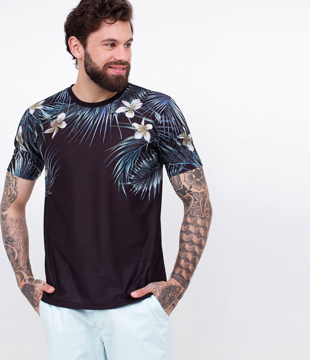 f792900ad Camiseta masculina Manga curta Estampada Marca  Blue Steel Tecido  meia  malha Composição  98% algodão 2% poliéster Modelo veste tamanho  M COLEÇÃO  VERÃO ...