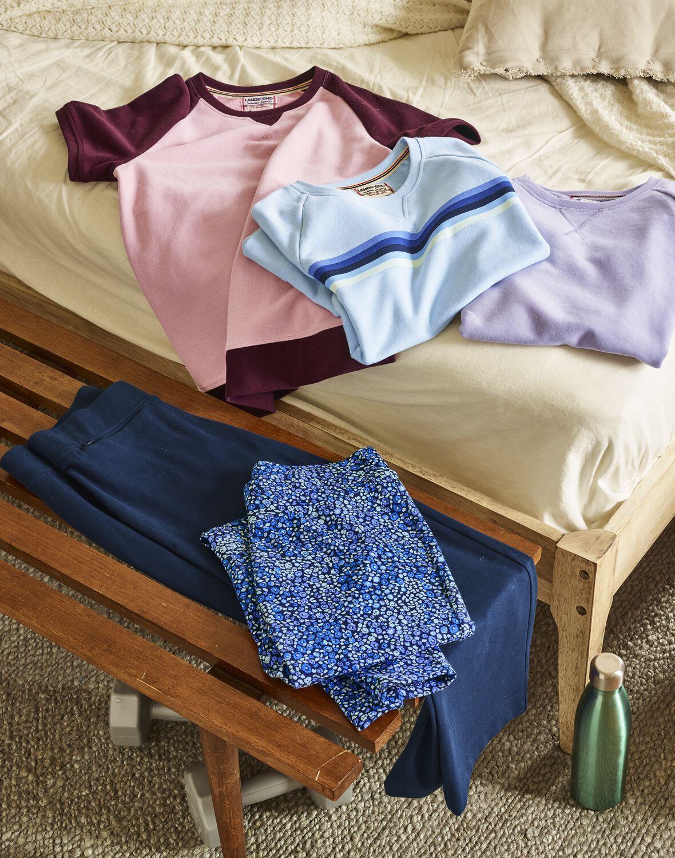Women S Serious Sweats Short Sleeve Sweatshirt Lands End Sweatshirt Short Sleeve Autumn Fashion Women Sweat Shorts [ 1500 x 1180 Pixel ]