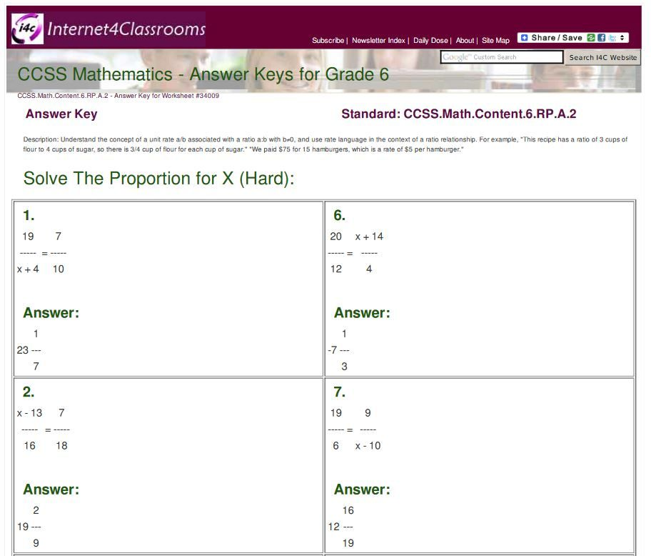 Pin by on 6th Grade CCSS Math