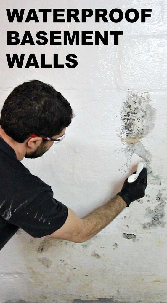 Waterproofing Basement Walls With Drylok Paint Sotano Acabado Remodelacion Del Sotano Renovaciones Del Sotano