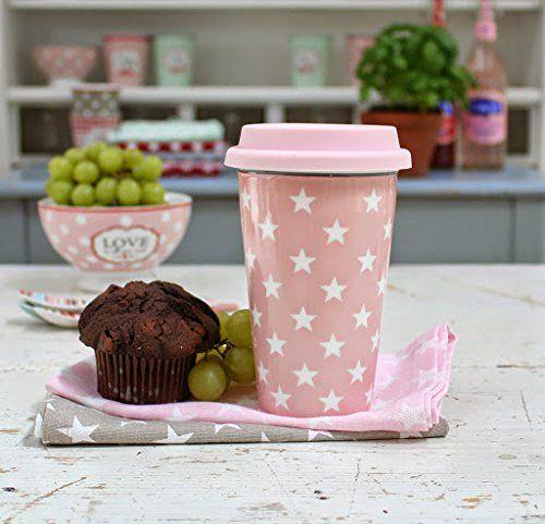 Küchen Zum Mitnehmen : krasilnikoff travel mug pink star coffee to go mugs ~ Watch28wear.com Haus und Dekorationen