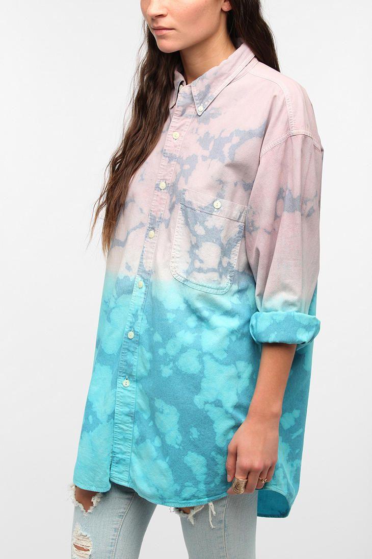 Urban Renewal Dip-Dyed Denim Shirt