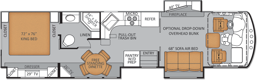 two bedroom rv floor plans | as the thor challenger 37kt http ...
