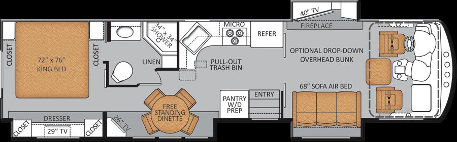 Anyone Seen Any 2 Bedroom Plans Rv Floor Plans Floor Plans Motorhome