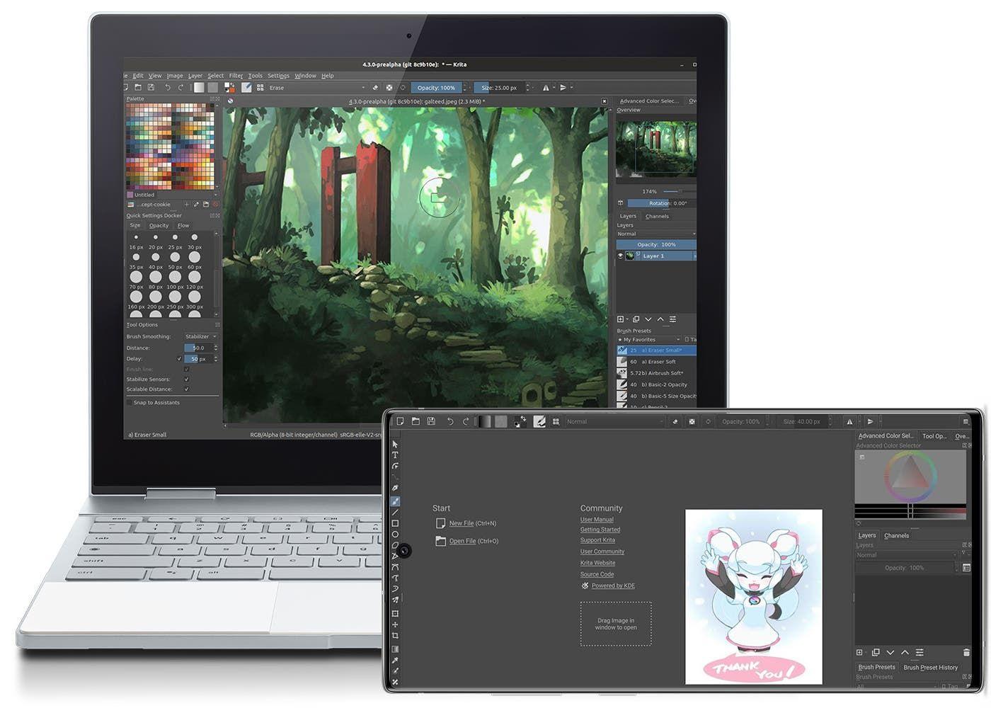 La Alternativa A Photoshop Que Estabas Buscando Ha Llegado A Android Asi Es Krita Un Editor Extremadament Photoshop Aplicaciones De Dibujo Editor De Imagenes